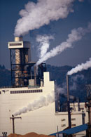 Picture of smokestacks; Size=130 pixels wide